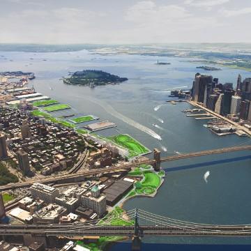 Rendering of proposed park by Michael Van Valkenburgh Associates