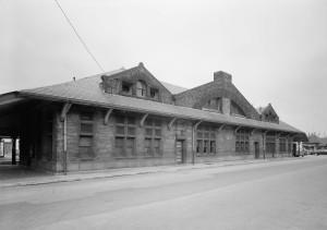 Framingham RR Station_HABS_Waverly St elevation